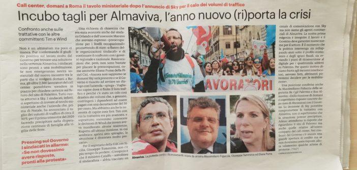 Almaviva: rassegna stampa e note RSU