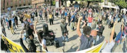 Tecnici e ballerini la protesta silenziosa degli invisibili